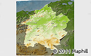 Physical 3D Map of Region 3, darken