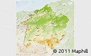 Physical 3D Map of Region 3, lighten