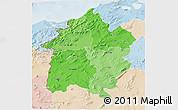Political Shades 3D Map of Region 3, lighten