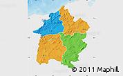 Political Map of Region 3, single color outside