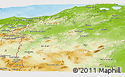 Physical Panoramic Map of Region 3