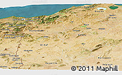Satellite Panoramic Map of Region 3