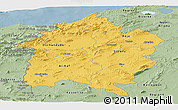 Savanna Style Panoramic Map of Region 3
