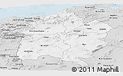 Silver Style Panoramic Map of Region 3
