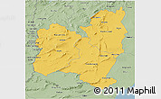 Savanna Style 3D Map of Region 4