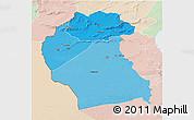 Political Shades 3D Map of Region 6, lighten