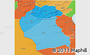 Political Shades 3D Map of Region 6
