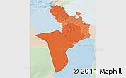 Political Shades 3D Map of Region 7, lighten