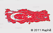 Flag 3D Map of Turkey