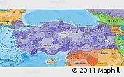 Political Shades 3D Map of Turkey