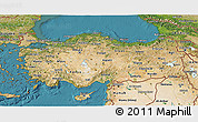 Satellite 3D Map of Turkey