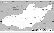 Gray Simple Map of Adiyaman