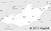 Silver Style Simple Map of Adiyaman