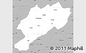 Gray Simple Map of Afyon