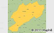 Savanna Style Simple Map of Afyon