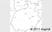 Blank Simple Map of Aksaray