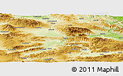 Physical Panoramic Map of Amasya