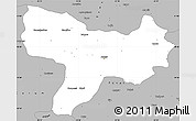 Gray Simple Map of Amasya