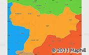 Political Simple Map of Amasya
