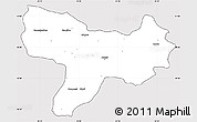 Silver Style Simple Map of Amasya, cropped outside