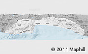 Gray Panoramic Map of Antalya