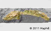 Satellite Panoramic Map of Antalya, desaturated