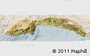 Satellite Panoramic Map of Antalya, lighten