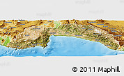 Satellite Panoramic Map of Antalya, physical outside