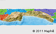 Satellite Panoramic Map of Antalya, political outside