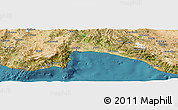 Satellite Panoramic Map of Antalya