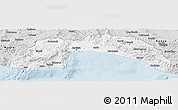 Silver Style Panoramic Map of Antalya