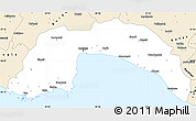Classic Style Simple Map of Antalya