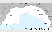 Gray Simple Map of Antalya