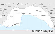 Silver Style Simple Map of Antalya