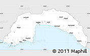 Silver Style Simple Map of Antalya, single color outside