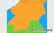 Political Simple Map of Artvin