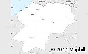 Silver Style Simple Map of Artvin