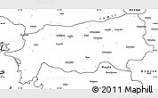 Blank Simple Map of Aydin