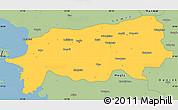 Savanna Style Simple Map of Aydin