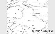 Blank Simple Map of Balikesir