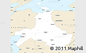 Classic Style Simple Map of Balikesir