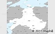 Gray Simple Map of Balikesir
