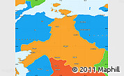 Political Simple Map of Balikesir