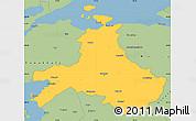 Savanna Style Simple Map of Balikesir