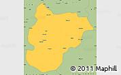 Savanna Style Simple Map of Bilecik