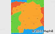 Political Simple Map of Bingol