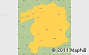 Savanna Style Simple Map of Bingol