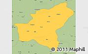 Savanna Style Simple Map of Bitlis