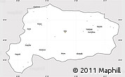 Silver Style Simple Map of Bolu, cropped outside