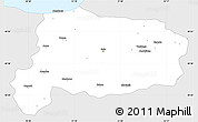 Silver Style Simple Map of Bolu, single color outside